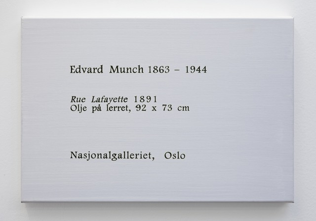 , 'LCM, Edvard Munch, Rue Lafayette, 1981,' 2009, OSL Contemporary