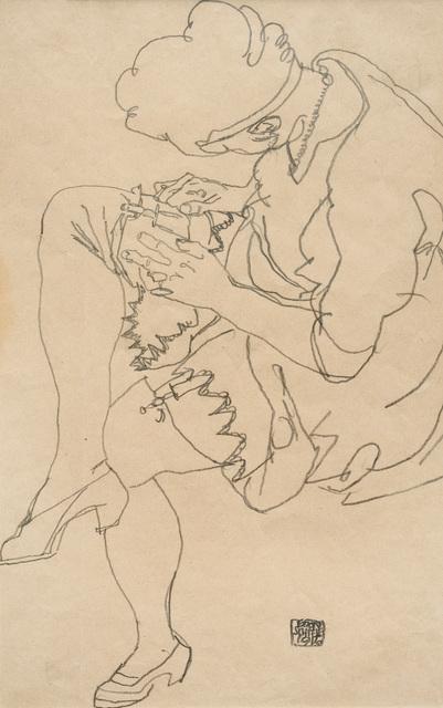 , 'Seated woman,' 1916, W&K - Wienerroither & Kohlbacher