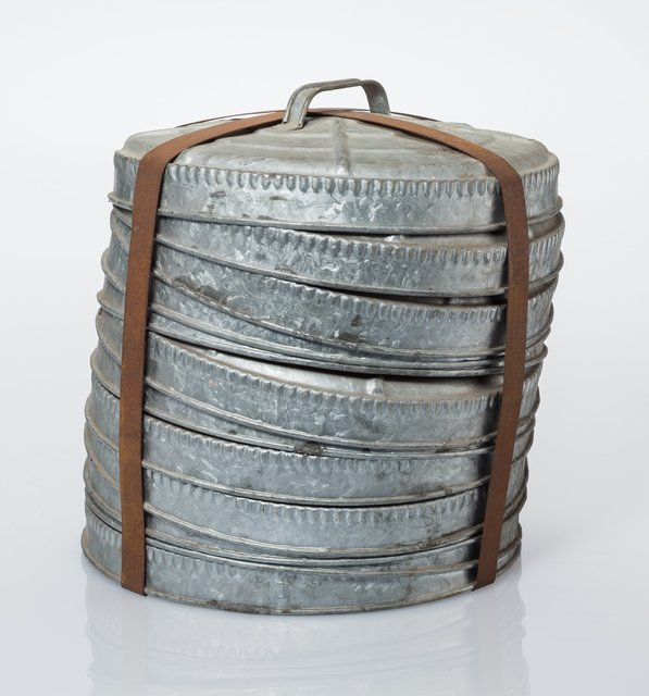 'Twelve Trash Can Lids', circa 1950, Heritage Auctions