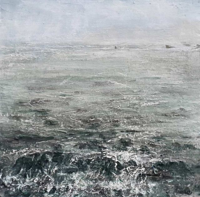 Rose Strang, 'Sea Mist, October, Isle of Iona', 2019, Lime Tree Gallery
