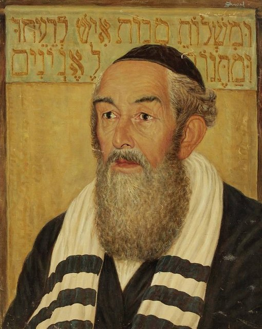 Unknown, 'Portrait of a Rabbi, Judaica Oil Painting, Purim', 20th Century, Lions Gallery