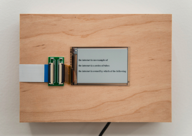 Zach Gage, 'the internet is...', 2015/2016, Postmasters Gallery