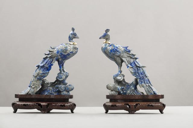 , 'Pair of lapis figures of birds,' Prob. Russian-1930 circa, Brun Fine Art