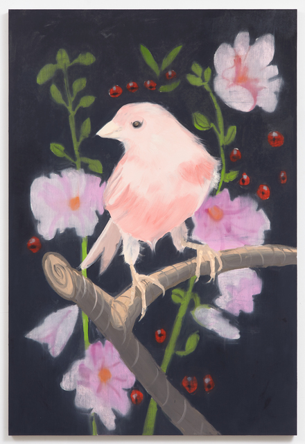 , 'Pink Canary (Stepping Out With Cherries, Black, Facing Left), 2017,' 2017, Karma