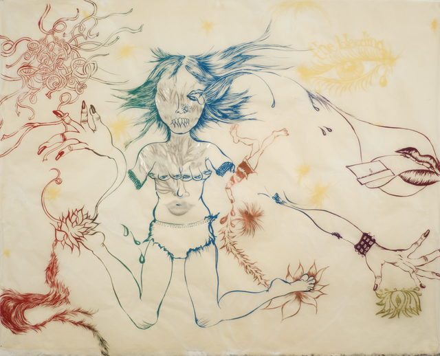 Chitra Ganesh, 'Delicate Line: Corpse She Was Holding (portfolio, NOT SOLD INDIVIDUALLY)', 2009-2010, The Brodsky Center at PAFA