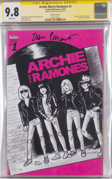 Archie Meets Ramones issue #1, signed by Dan Parent, CGC graded 9.8