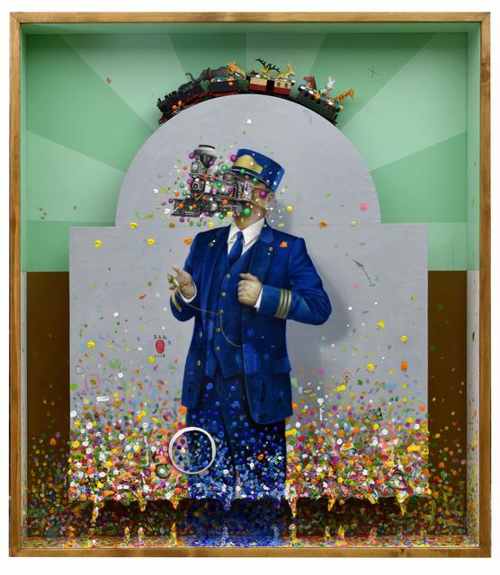 Mario Soria, 'El tren de Noé', 2018, Painting, Oil and mixed media on wood, N2 Galería