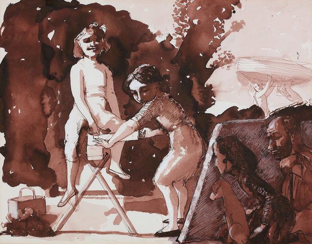 , 'Two Girls Sawing,' ca. 1984, Marlborough London