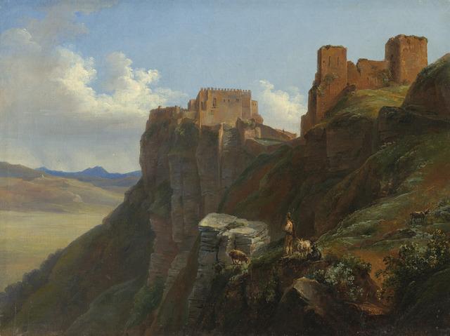 Louise-Joséphine Sarazin de Belmont, 'View of the Castello di San Giuliano, near Trapani, Sicily', ca. 1824/1826, National Gallery of Art, Washington, D.C.