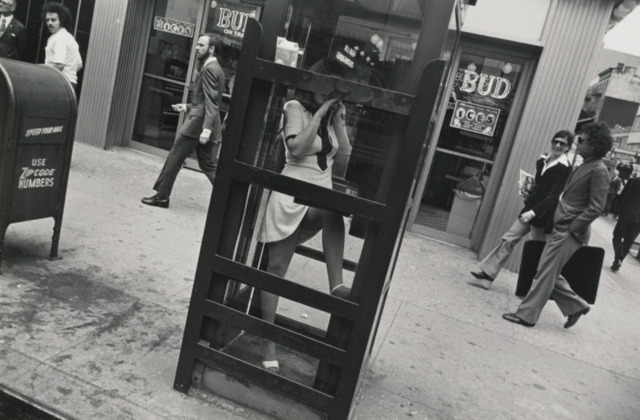 Garry Winogrand, 'New York City (woman in phone booth, leg up) Garry Winogrand Portfolio, Hyperion Press, 1978', 1972, Photography, Silver gelatin print, Jackson Fine Art