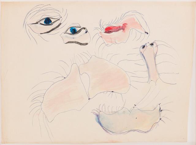 , 'Gesichtsteile (roter Mund),' 1965, Beck & Eggeling