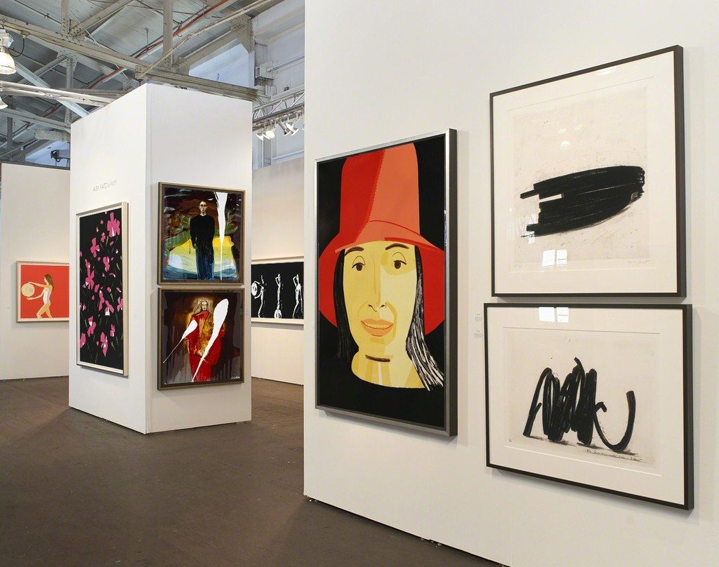works by Alex Katz, Julian Schnabel, and Bernar Venet