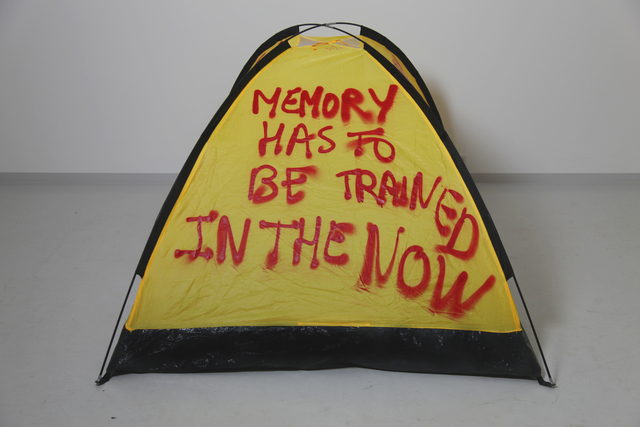 , 'MEMORY HAS TO BE TRAINED IN THE NOW,' 2017, SABSAY