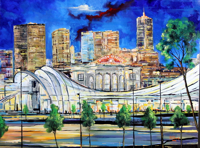, 'Union Station by Night,' 2017, Bitfactory Gallery