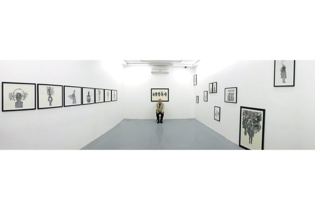 Reza Abedini, Callidrawing, installation view, image courtesy of the Ab/Anbar gallery