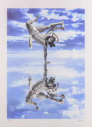 Breakdancing Jesus On Water (Candy Blue)