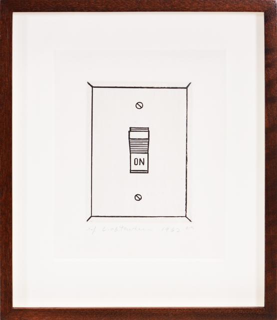 Roy Lichtenstein, 'On (Switch)', 1962, Print, Etching, Shapero Modern