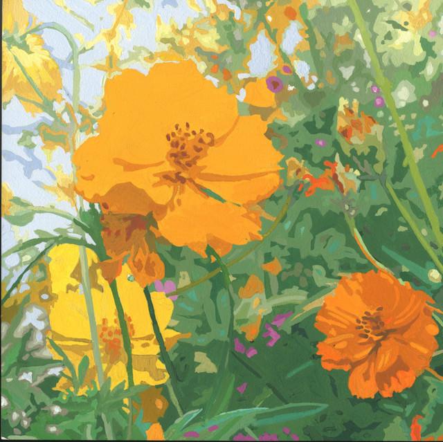 James Oliver (1972), 'Wildflower Composition (California Poppy#11)', George Billis Gallery