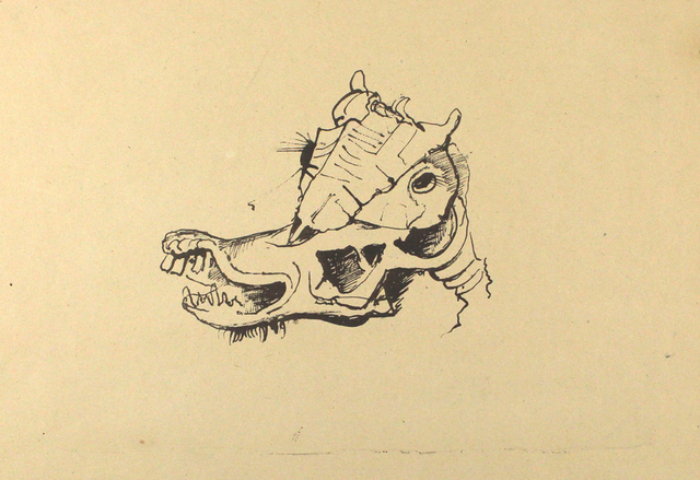 Karl Hofer, 'Pferdeschädel / Horse Skull', ca. 1948, Sylvan Cole Gallery