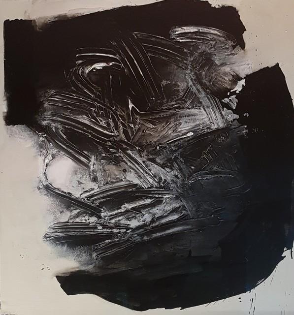 Rafael Canogar, 'Tronco', 1960, Painting, Oil on canvas, GALERÍA HISPÁNICA