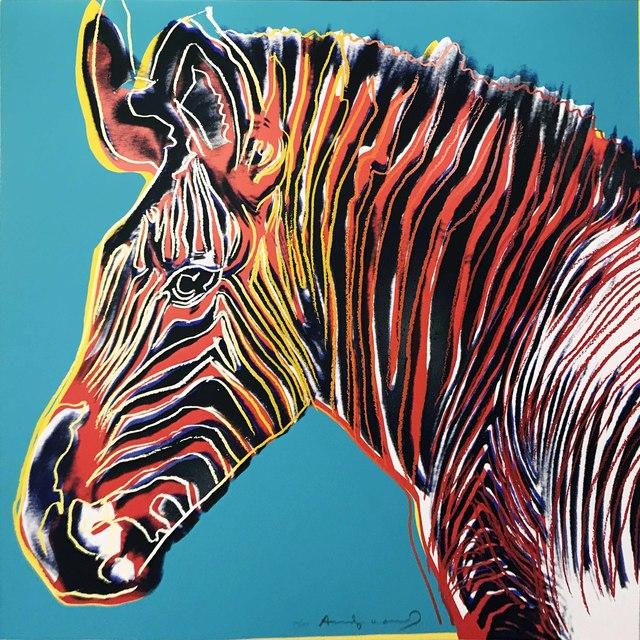 Andy Warhol, 'Endangered Species: Grevy's Zebra II.300', 1983, Hamilton-Selway Fine Art