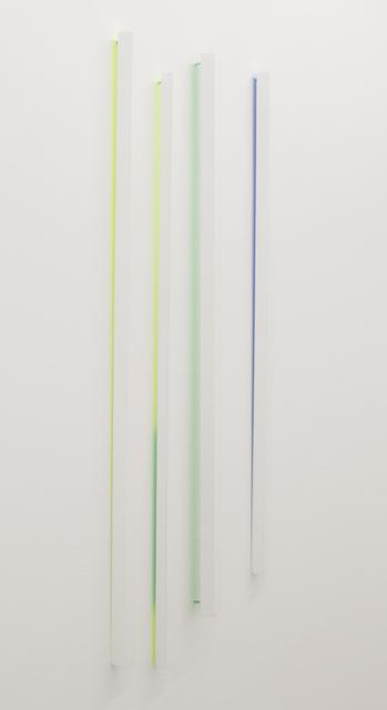 , 'Sticks - yellow, yellow-green, green, blue,' 2015, Ruttkowski;68