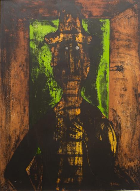 , 'Hombre en Fondo Verde HC,' 1980, Hecho a Mano