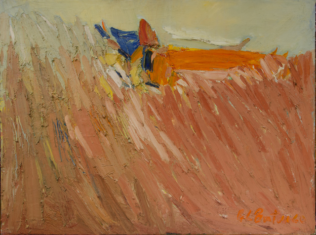Fletcher Benton, 'Cornfield', ca. 1960, Painting, Oil on panel, The Art Collection of the University of Agder