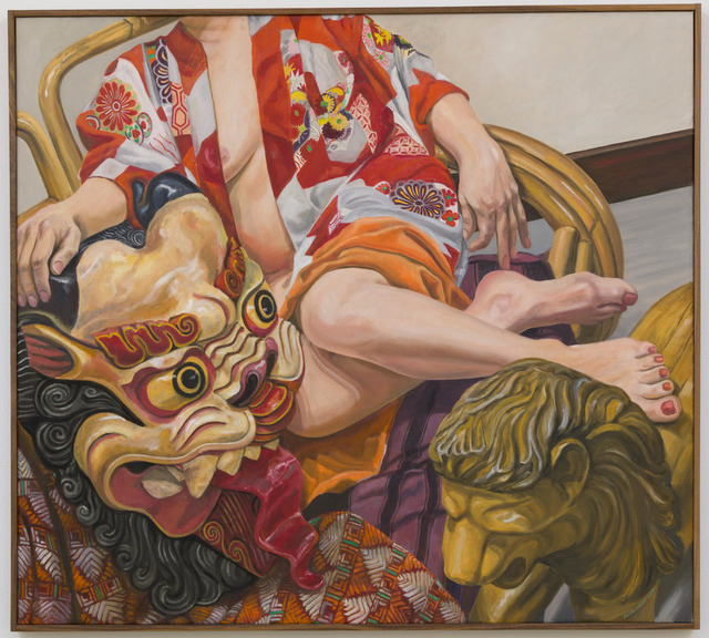 , 'Model with Indonesian Mask,' 2015, Ghebaly Gallery