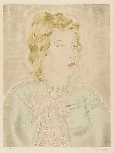 Léonard Tsugouharu Foujita, 'Femme à la cravate rose (Buisson 30.26)', 1930, Forum Auctions