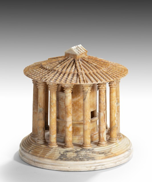 , 'Grand Tour Roman Alabaster Model of the Temple of Hercules Victor,' ca. 1810, Thomas Coulborn & Sons