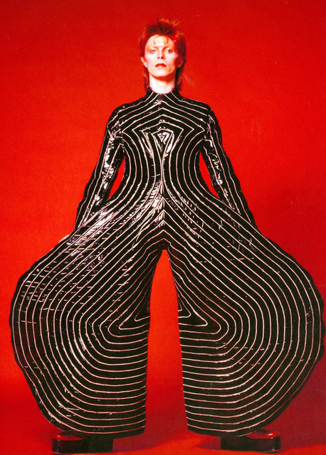 , 'Striped bodysuit for the Aladdin Sane tour. design by Kansai Yamamoto,' 1973, Art Gallery of Ontario (AGO)