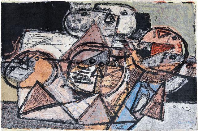 Guillaume Corneille, 'Vintage Scandinavian Corneille Art Rug', ca. 1980, Nazmiyal Collection