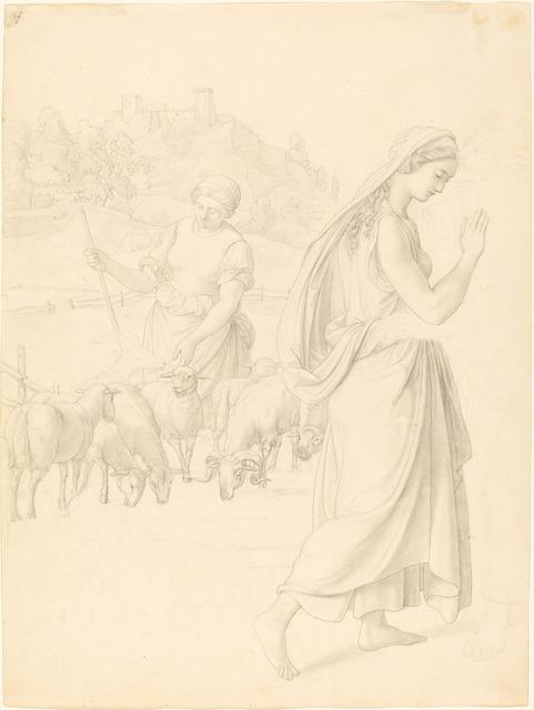 Josef von Führich, 'The Meeting of Jacob and Rachel', ca. 1829, National Gallery of Art, Washington, D.C.