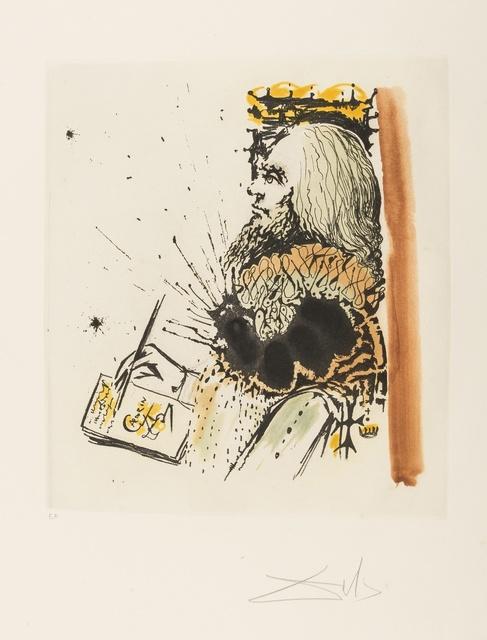 Salvador Dalí, 'Portrait de Calderón (from Calderón: La Vie est un songe) (M&L 515a; Field 73-1-D)', 1971, Print, Etching with aquatint printed in colours, Forum Auctions