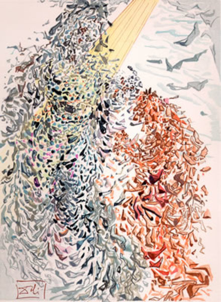 Salvador Dalí, 'Paradise Canto 11: Opposition from The Divine Comedy', 1960, Print, Woodblock on paper, New River Fine Art
