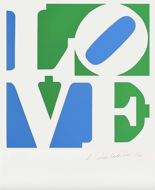 , 'LOVE (White/Green/Blue),' 2009, Contini Art UK