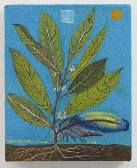, 'Plant, Feather, Ice Cube, Sun,' 2018, Galerie Sébastien Bertrand