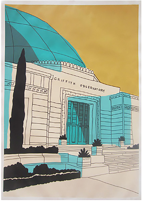 Marz Junior, 'Griffith Observatory-Yellow Vertical ', 2019, Wallspace
