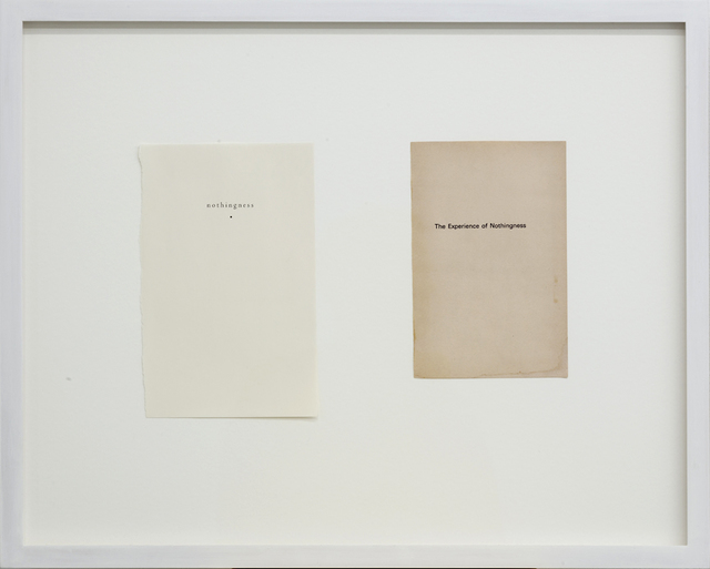 , 'Flyleaves (nothingness/The Experience of Nothingness),' 2013, MKG127