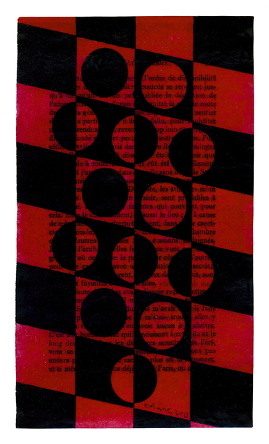 , 'Untitled pages drawings (Red & Black Circles),' 2013, FRED.GIAMPIETRO Gallery