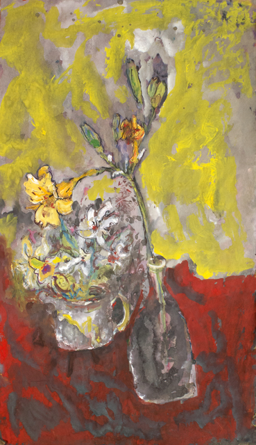 James Martin, 'Untitled (Vase with Flower, Red and Yellow Background)', Foster/White Gallery