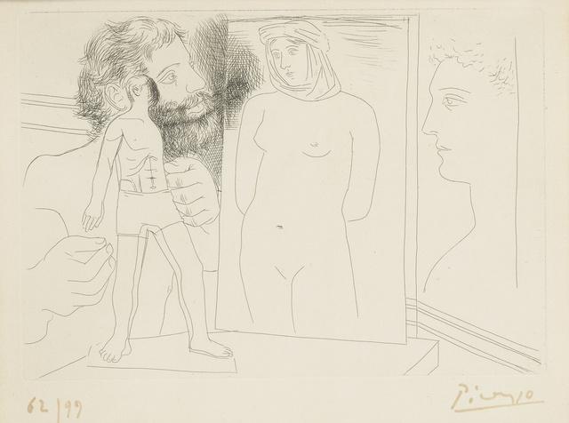 Pablo Picasso, 'Sculpteur avec sculpture et d'autres oeuvres (B. 86; Ba. 127)', 1927, Sotheby's