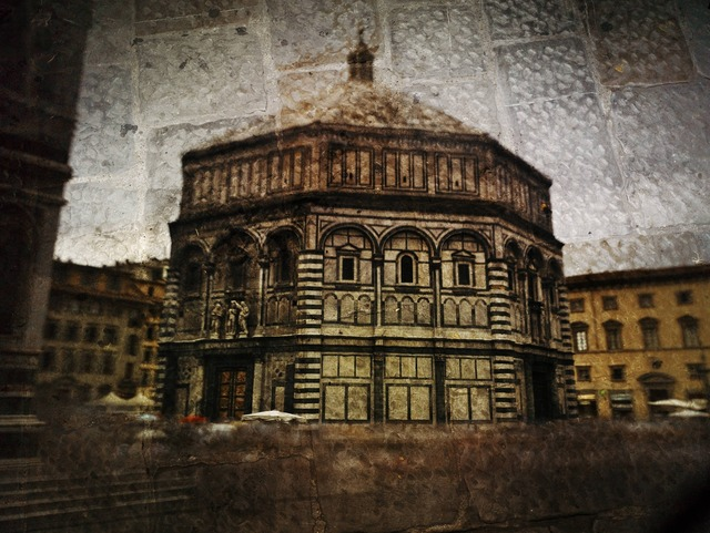 , 'Tent-Camera Image on Ground: The Florence Baptistry,' 2010, Jackson Fine Art