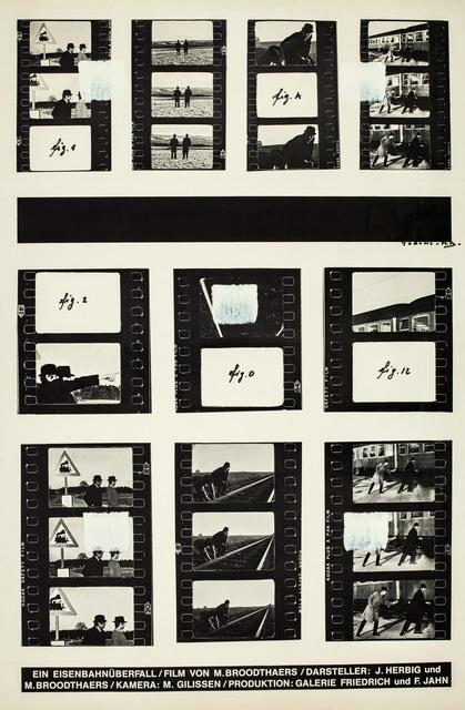 , 'Empreintes de pinceau n°50 répétées à intervalles réguliers de 30 cm, Hommage à Marcel,' 1986, Musée d'Art Moderne de la Ville de Paris