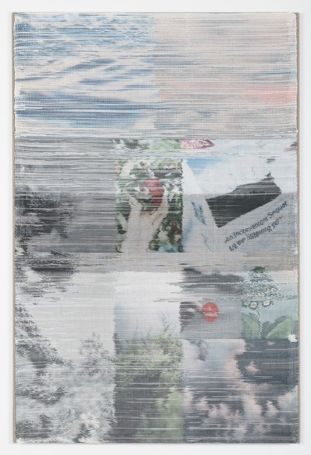 Margo Wolowiec, 'What We Know', 2019, Textile Arts, Handwoven polymer and linen, dye sublimation ink, acrylic paint, stretched linen canvas, Jessica Silverman