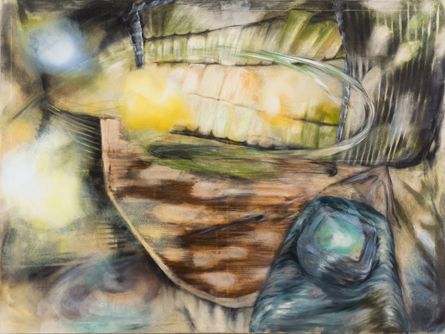 Magdalena West, 'Blendung', 2013, Painting, Aquarell,Kohle,Acryl,Ölfarbe,Pastellkreide auf Papier, galerie burster