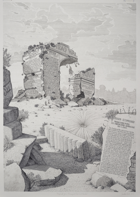 ", 'Proposal for a Triumphal Arch and Garden from the series ""Imaginary Monuments"",' 2015, Catharine Clark Gallery"