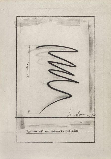 Bernar Venet, 'Position of an undetermined Lined', Print, Lithograph, ArtRite