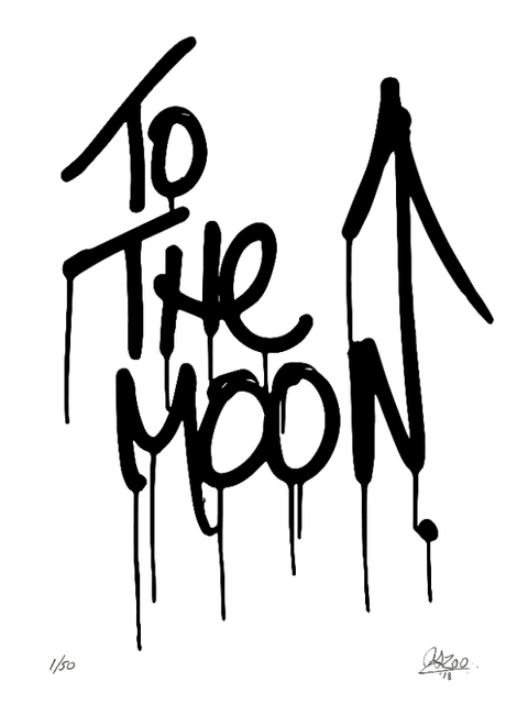 , 'To The Moon Krink Mop Print,' 2018, de Plume Gallery